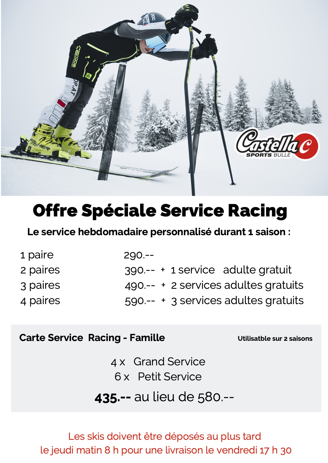 Service de ski racing version 3